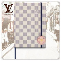 Louis Vuitton DAMIER AZUR Unisex Dark Brown Notebooks