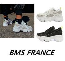 BMS FRANCE Street Style Plain Home Party Ideas Low-Top Sneakers