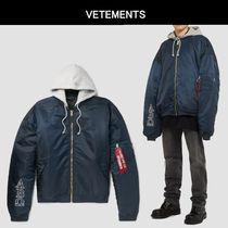 VETEMENTS Street Style MA-1 Bomber Jackets