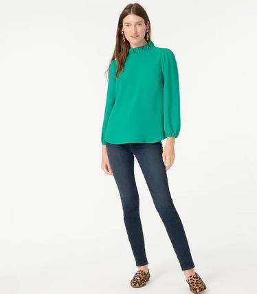 Casual Style Long Sleeves Plain Office Style Formal Style