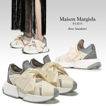 MM6 Maison Margiela Round Toe Rubber Sole Casual Style Plain Chunky Heels