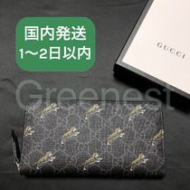 GUCCI Faux Fur Other Animal Patterns Long Wallets