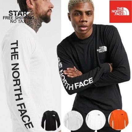 THE NORTH FACE Long Sleeve Crew Neck Pullovers Unisex Street Style Long Sleeves Plain