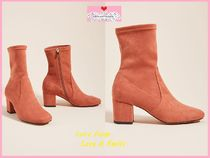 Anthropologie Square Toe Casual Style Plain Block Heels Mid Heel Boots