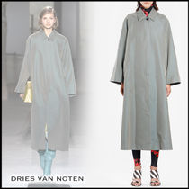 Dries Van Noten Stand Collar Coats Plain Long Elegant Style Coats