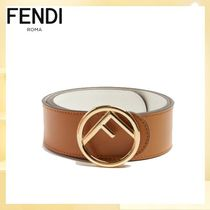FENDI Casual Style Blended Fabrics Plain Leather Elegant Style