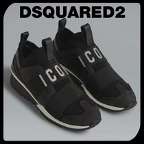D SQUARED2 Round Toe Rubber Sole Casual Style Unisex Street Style Plain
