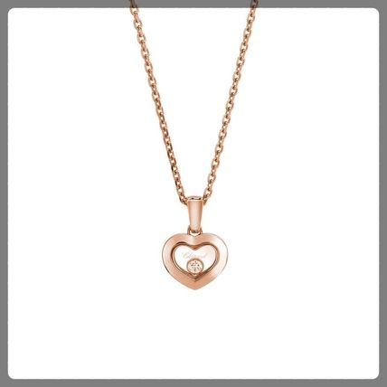 18K Gold With Jewels Elegant Style Necklaces & Pendants