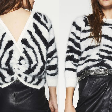 Short Zebra Patterns Casual Style Cropped