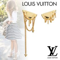 Louis Vuitton Costume Jewelry Casual Style Party Style Brass Elegant Style