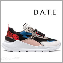 DATE Casual Style Unisex Python Low-Top Sneakers