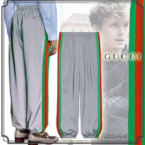 GUCCI Street Style Plain Oversized Pants