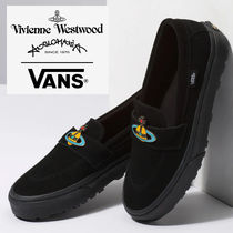 Vivienne Westwood Round Toe Casual Style Unisex Suede Collaboration