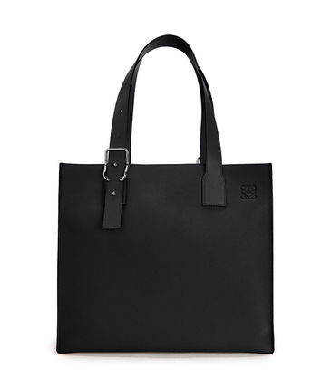 LOEWE Buckle Tote Bag In Soft Grained Calfskin