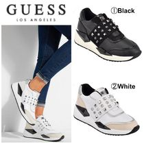 Guess Rubber Sole Casual Style Studded Street Style Plain