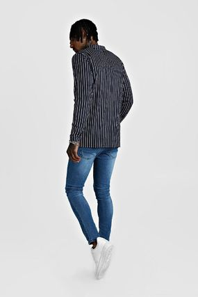 boohoo Shirts Stripes Street Style Long Sleeves Shirts 2