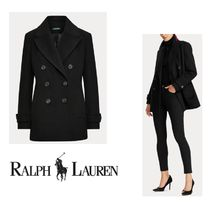 Ralph Lauren Casual Style Wool Plain Medium Peacoats