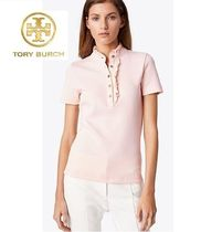 Tory Burch Casual Style Cotton Short Sleeves Polos