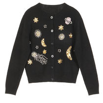 Cable Knit Star Casual Style Blended Fabrics Long Sleeves
