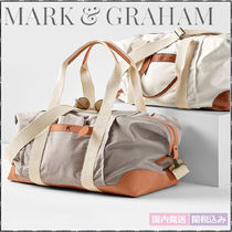 marc AND graham Unisex Canvas Plain Boston Bags