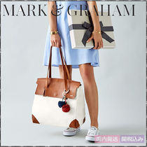 marc AND graham Casual Style Canvas Blended Fabrics Bi-color Office Style