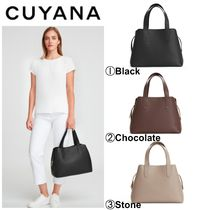 CUYANA Casual Style 2WAY 3WAY Plain Leather Office Style Totes