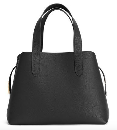 Casual Style 2WAY 3WAY Plain Leather Office Style Crossbody