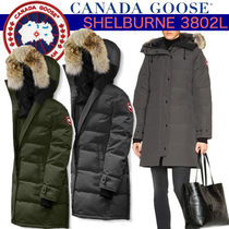 CANADA GOOSE SHELBURNE Blended Fabrics Plain Medium Down Jackets