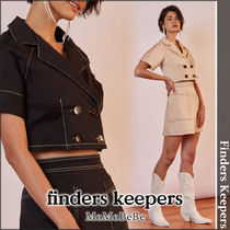 Finders Keepers Casual Style Plain Cotton Medium Short Sleeves