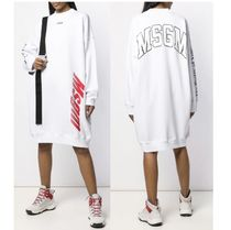 MSGM Crew Neck Casual Style Street Style Cotton Short Sleeves