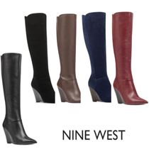 Nine West Leather Wedge Boots