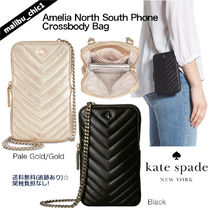 kate spade new york Chain Plain Leather Smart Phone Cases