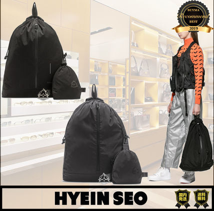 Casual Style Nylon Street Style Bag in Bag A4 2WAY Plain