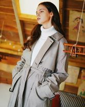 WV PROJECT Glen Patterns Street Style Collaboration Long Trench Coats