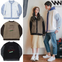 WV PROJECT Street Style Collaboration Long Sleeves Plain Cardigans