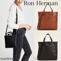 Ron Herman Casual Style Unisex 2WAY Plain Leather Office Style Totes