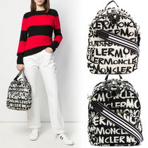 MONCLER Monogram Casual Style Nylon A4 Backpacks
