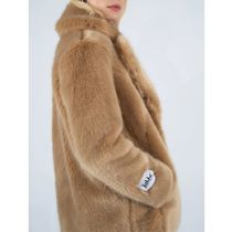 Jakke Faux Fur Plain Medium Eco Fur Logo Cashmere & Fur Coats