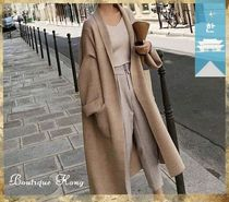 Casual Style Long Gowns Cardigans