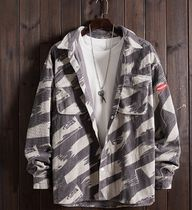 Camouflage Street Style Bi-color Long Sleeves Cotton