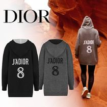Christian Dior Casual Style Cashmere Street Style Long Sleeves Medium