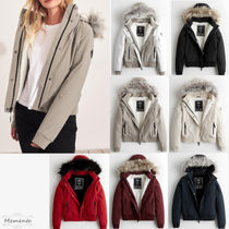 Hollister Co. Casual Style Faux Fur Street Style Plain Medium Jackets