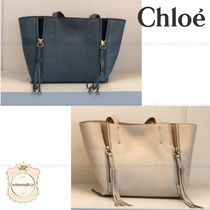 Chloe Casual Style Plain Leather Totes