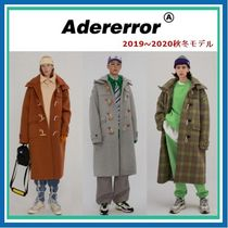 ADERERROR Other Check Patterns Unisex Wool Street Style Plain Long