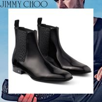 Jimmy Choo Leopard Patterns Studded Leather Chelsea Boots Chelsea Boots