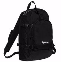 Supreme Unisex Street Style A4 Backpacks