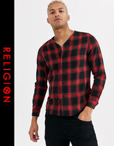 Religion Other Check Patterns Street Style Long Sleeves