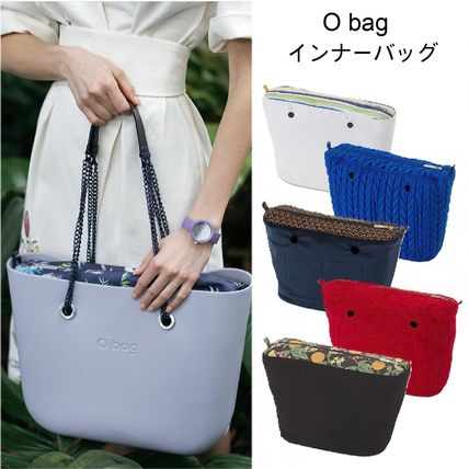 Gingham Flower Patterns Casual Style Canvas Nylon Bag in Bag