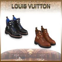 Louis Vuitton MONOGRAM Monogram Mountain Boots Round Toe Rubber Sole Casual Style