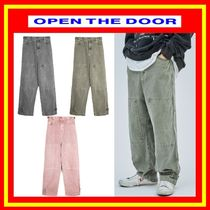 OPEN THE DOOR Unisex Street Style Cotton Oversized Jeans